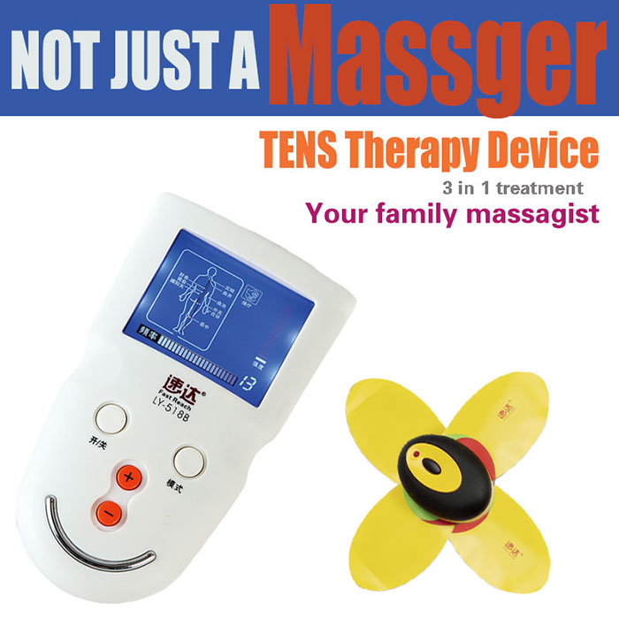 pain therapy device tens breast massager electrode pads digital massage therapy machine