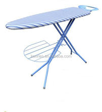 Plastic top Iron board with iron rest and garment rack