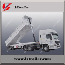 Hydraulic self discharge sand 3 Axles 80Ton Side dump truck semi trailer / rear tipper trailer for sale