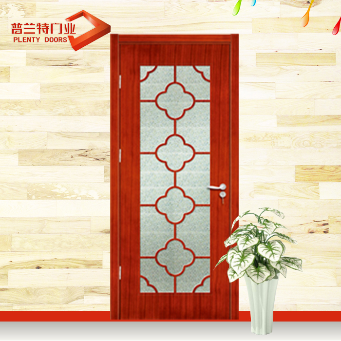 plain mahogany with glass solid wood doors