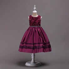 Baby Girl Ball Gowns korean style children flower kids girls dresses Clothing Party princess frock design dress