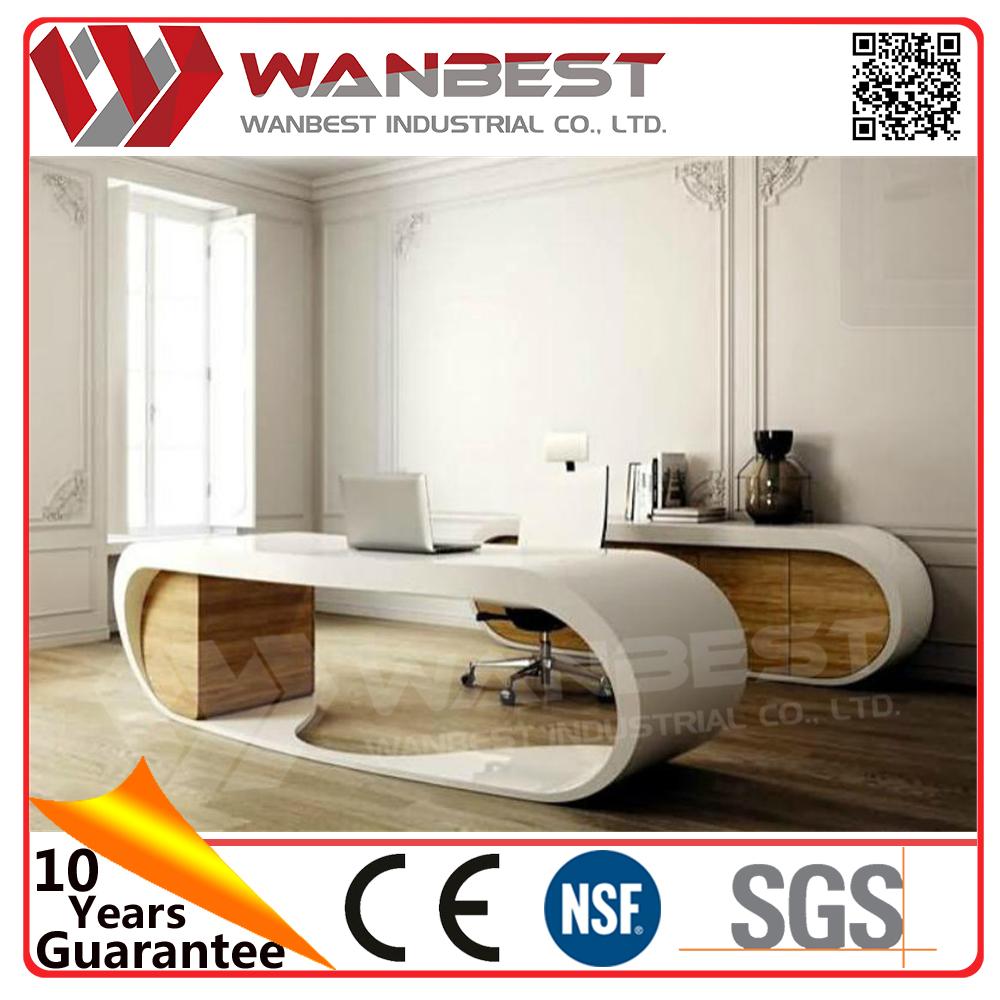 Artificial stone modern design goggle office desk marble for Office design jargon