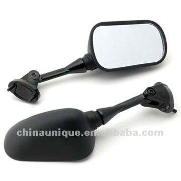 integrated 2004-2008 Jet Black Racing Mirrors for Kawasaki Ninja ZX6 ZX6R ZX10 ZX10R