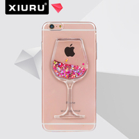 Hot Sale wineglass TPU phone case for iphone , mobile phone case for smartphone