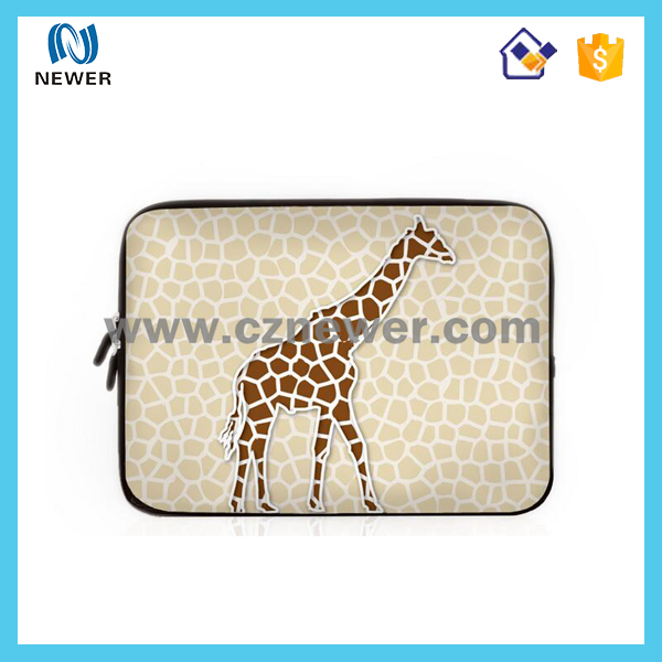 Cute durable hot selling neoprene disposable laptop sleeve