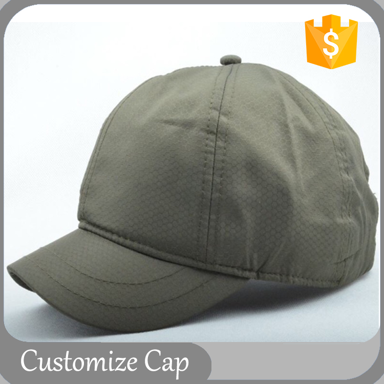 Short Brim Breathable Polyester Cap Dark Green Baseball Hats Cheap Unisex Sports Cap Horse Men Wear Cap