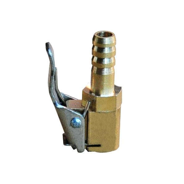 Useful Vehicle Car Tire Inflator Valve Air Chuck Connector 8mm 5/16: Hose Barb Brass Clip On Hot