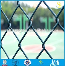 Guangzhou 2016 hot sale galvanized heavy protecting iron wire chain link fence, pvc coated chain link fence for sale factory