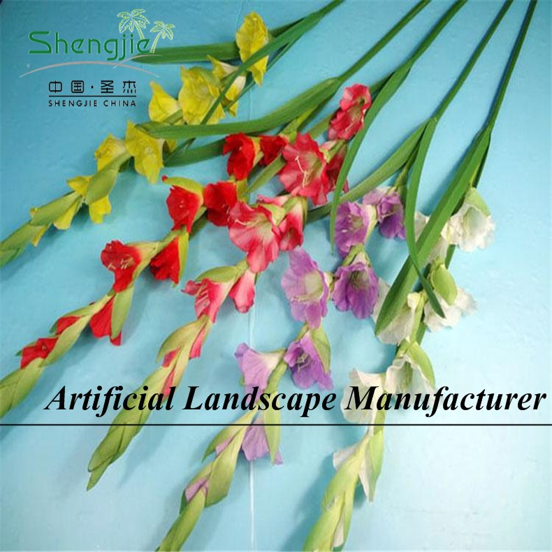 SJYY028 natural look artificial individual flowers green/red/purple gladiolus/GLADIOLA/sword lily