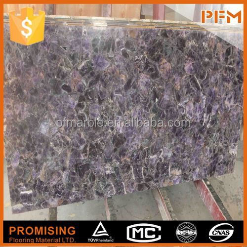 2015 hot sale natural gemstone for counter/bar/vanity/table top khambhat export purple agate