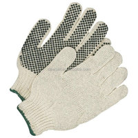 NEWSAIL Oil industrial protective gloves / cotton garden gloves/Pvc dots knitting gloves
