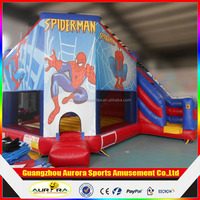 2016 Newly and beautiful inflatable bouncer slide, spiderman bouncer inflatable toy