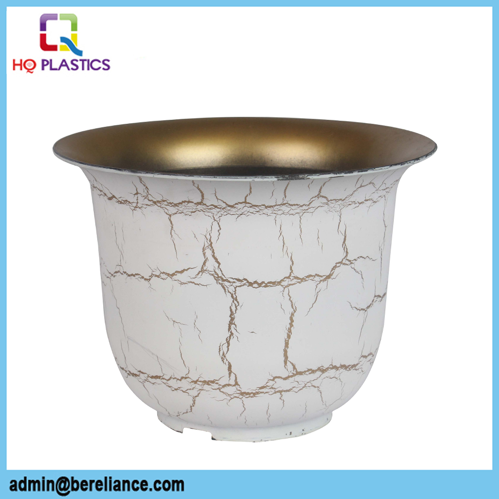Hottest Plastic Flower Pot Painting Designs Decorative Garden