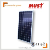 MUST 200W 18V Mono Solar Panel with CE/TUV/IEC certificate