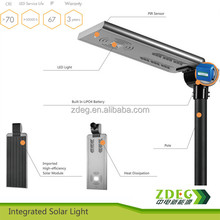 15 to 40W outdoor LED solar street lamp with sensor motion