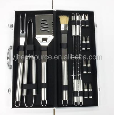 16pcs alumnue case packing bbq tools hot selling