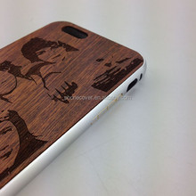 New style emboss wood phone case for iphone 6