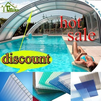 Swimming Pool Cover Plastic Polycarbonate Hollow Roofing Sheets Buy Hollow Roofing Sheets