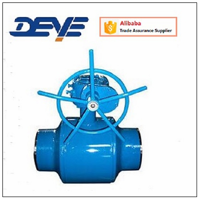 Gas Ball Valve with Welded Body and Gear Operated