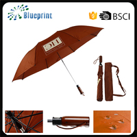 "Quality mens windproof 28"" 2 folding telescopic golf umbrella"