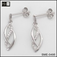 Fashionable 925 Sterling Silver Jewelry Cheap Earrings