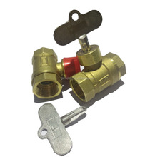 Female Threaded Brass Key Lock Ball Valve dn15-25mm