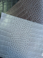 Imitation Crocodile PU leather for bags,crocodile emboss faux leather
