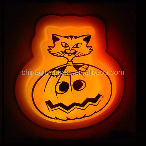 funny glowing toy glow pumpkin for chest wearing