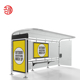 Outdoor advertising bus stop shelter galvanized Steel bus station bus stop shelter
