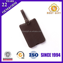 Travel Parts Cheap pu leather Luggage Bag Holder tag With Your Logo