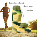 travel bottles leak proof silicon camo running water bottle