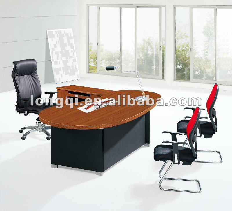 modern nice high quality wooden manager executive desk upscale office discussion reception office table