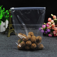 highly clear plastic ziplock bag for nuts packaging custom design