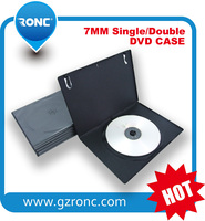 7mm pp black slim single DVD case with a glossy or matt clear film (sleeve) auto packing machine grade