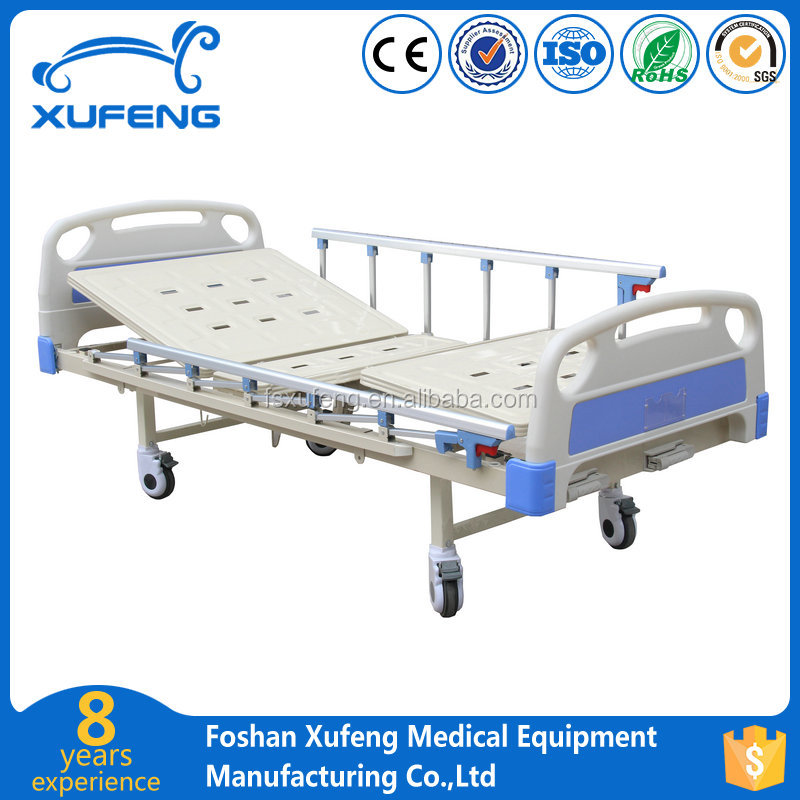PP new bed board cheap fowler two crank manual medical hospital bed