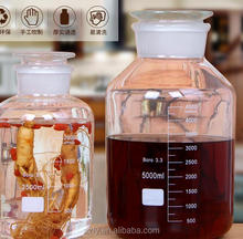 2.5L/5L/10L/15L/20L Wide mouthed frosted glass bottle with Scale / pickle jar / ginseng infusion wine / sealed tank.