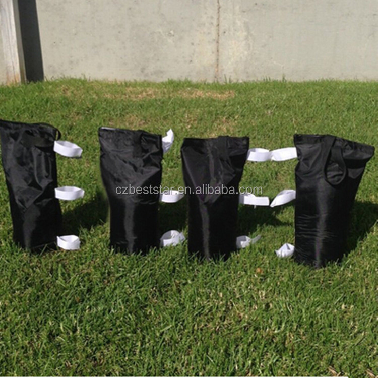 Black small sand bag for outdoor tent