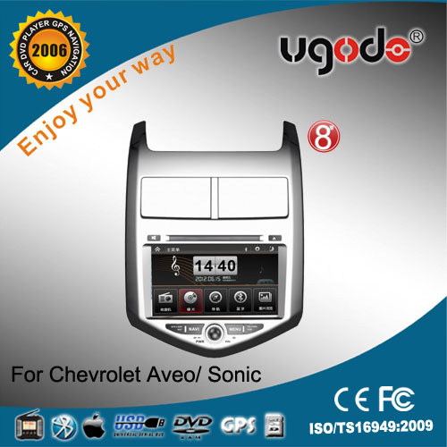 ugode two din for 2012 Chevrolet Aveo car GPS with DVD GPS radio bluetooth IPOD USB SD car multimedia player