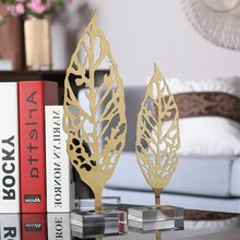 2018 New Products Metal Leaves Crafts Ornament For Home Decor