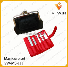 wholesale Promotional stainless steel 5pcs manicure set for women