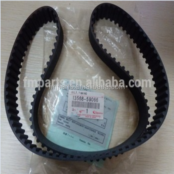 Brand new factory price Japanese rubber timing belt OEM:13568-59066 for Hiace 2L 3L 5L