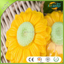 manufacture newest sunflower soap decorative sunflower handmade soap