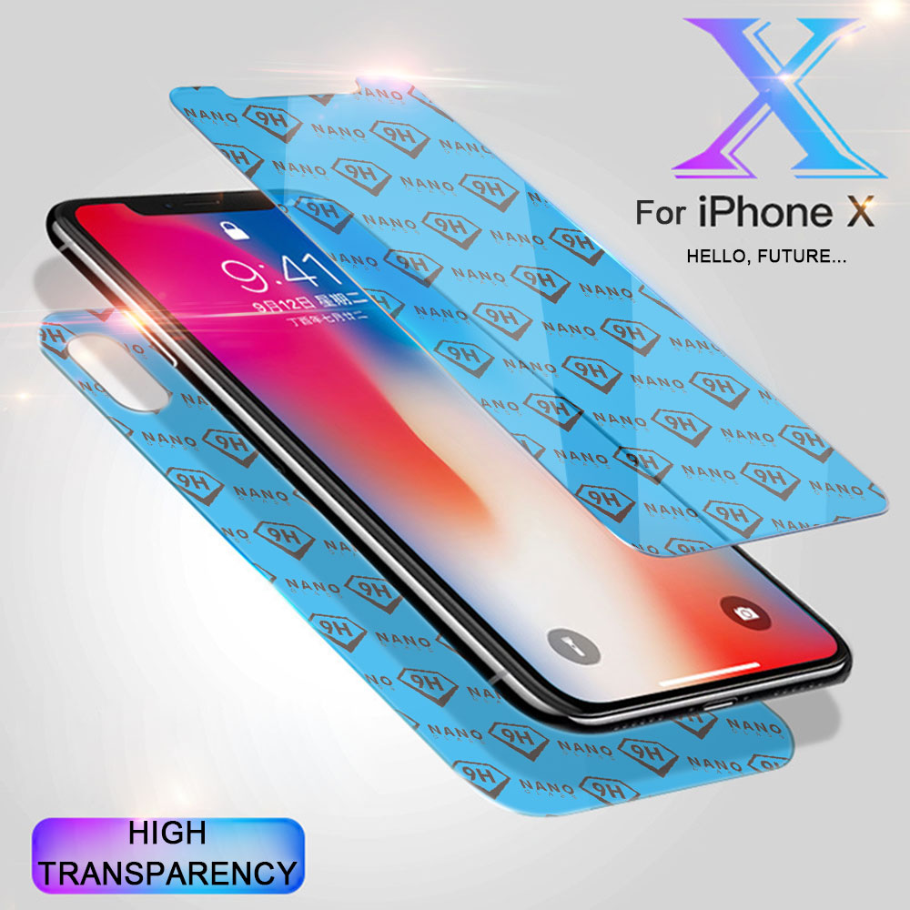 2018 <strong>Innovate</strong> New Technology Nano Glass Screen Protectors For iPhone X Anti Scratch Film