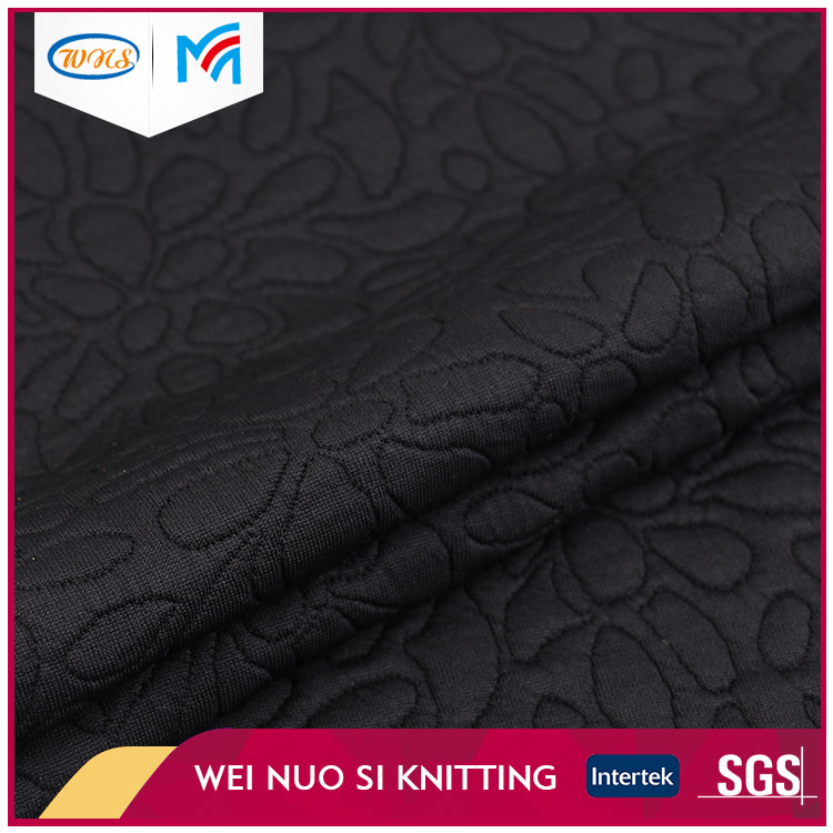 Good price custom soft touch jacquard knitting floral fabric for dress
