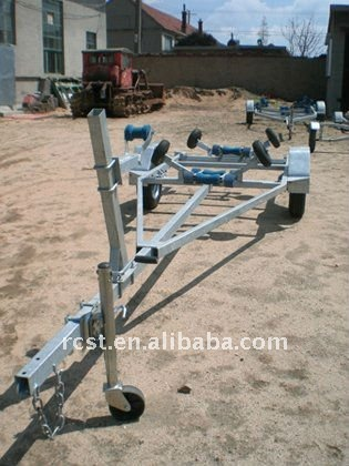 hot-dipped galvanized strong boat trailer