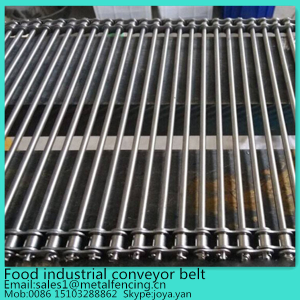 Pitch adjust stainless steel food grade straight rod conveyor belt for food industrial
