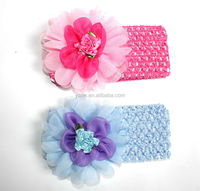 Fancy design lace elastic flower headband, baby headband