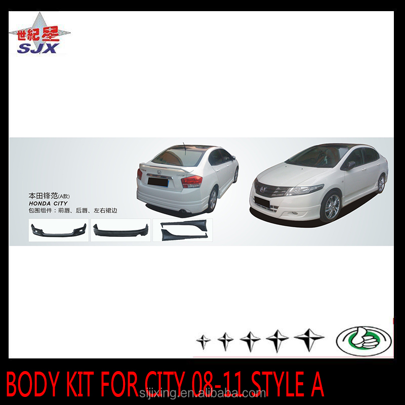 Plastic bumpers for City 08-11style A car body kit