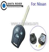 High Quality N issan Micra X-Trail Terrano Tiida Remote Key Shell 3 Button