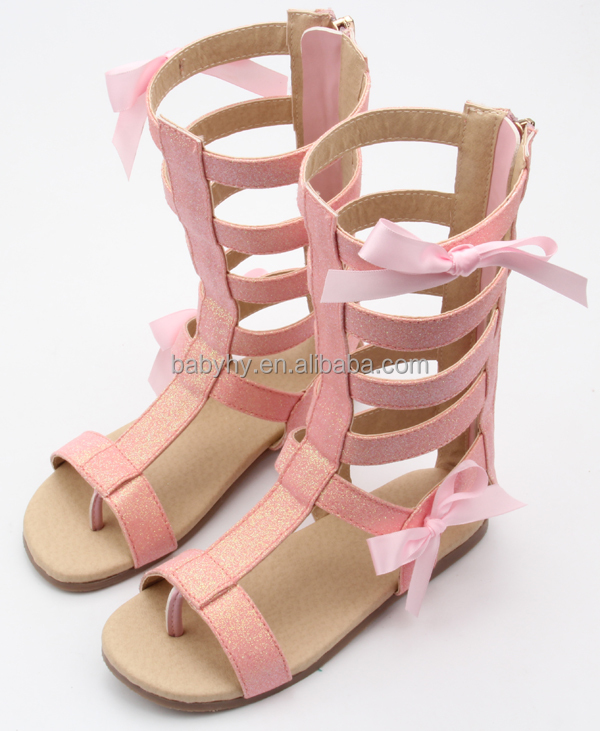 Wholesale cheap fancy newborn leather for little girl toddler gladiator sandal baby casual shoes